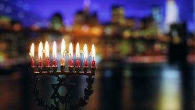 犹太与menorah传统大烛台的标志犹太假日光明节