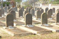 犹太人墓碑,圣马丁,毛里求斯 库存照片