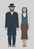 犹太人夫妇 库存照片