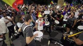 犹太人散居地-布加勒斯特罗马尼亚的抗议 股票视频