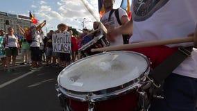 犹太人散居地-布加勒斯特罗马尼亚的抗议 影视素材