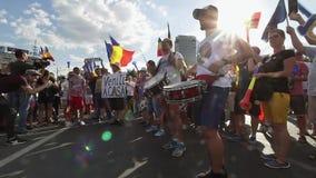 犹太人散居地-布加勒斯特罗马尼亚的抗议 股票录像