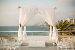 犹太人的婚礼chuppah 免版税库存图片