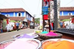 犹太人街道在科钦Ernakulam地区  免版税库存照片