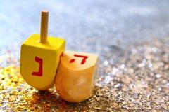 犹太假日光明节的顶视图图象
