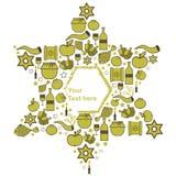 犹太假日的标志在浅绿色,软的口气的 免版税图库摄影