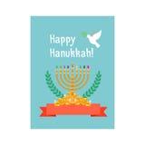 犹太假日,愉快的光明节卡片 免版税库存照片