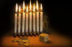 犹太光明节的节假日 免版税图库摄影
