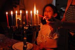 犹太光明节的节假日 免版税库存照片