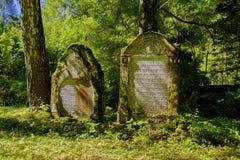 犹太公墓- Marianske Lazne -捷克 免版税库存照片