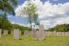 犹太公墓Zeeburg在2014三百年里存在了 免版税库存照片