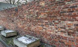 犹太华沙-少数民族居住区墙壁的踪影 免版税图库摄影