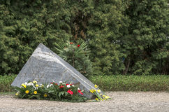 犹太华沙- Anielewicz纪念品踪影  库存照片