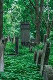 犹太华沙- Okopowa公墓踪影  库存图片