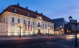 犹太博物馆的门面的建筑细节在柏林,德国 库存图片