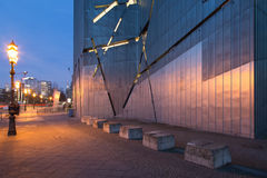 犹太博物馆的门面的建筑细节在柏林,德国 免版税库存图片