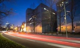 犹太博物馆的门面的建筑细节在柏林,德国 图库摄影