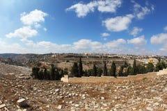 犹太古老的墓地 库存照片