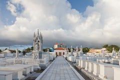 犹太墓地-冰山Altena, Willemstad, Curac 库存照片