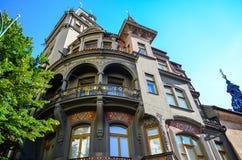 犹太处所在布拉格 免版税图库摄影