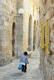 犹太季度在耶路撒冷以色列 库存照片