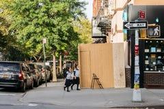 犹太孩子在纽约犹太区  免版税库存照片