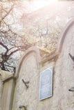 犹太少数民族居住区墙壁,克拉科夫,波兰 图库摄影