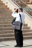 犹太摄影师 免版税库存图片