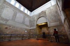 犹太教堂内部在科多巴 免版税库存照片