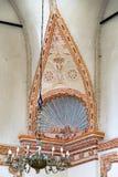 犹太教堂内部细节在扎莫希奇,波兰 免版税库存照片