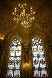 犹太教堂内部 库存图片