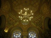 犹太教堂内部 免版税库存图片