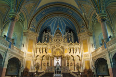 犹太教堂内部 免版税库存照片