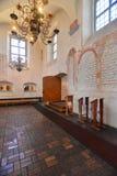犹太教堂内部 免版税图库摄影