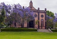 犹太教堂在圣地亚哥 库存照片