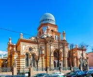 犹太教堂在圣彼德堡 免版税库存照片