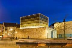 犹太教堂在慕尼黑晚上 免版税图库摄影