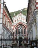 犹太教堂在老镇布拉索夫(Kronstadt),在Transilvania 库存照片