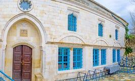 犹太教堂在采法特 免版税库存图片