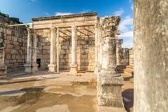 犹太教堂在Capernaum耶稣镇  库存图片