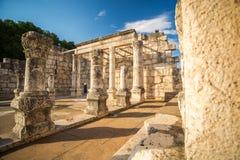 犹太教堂在Capernaum耶稣镇  免版税库存照片