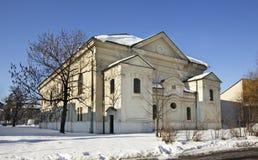 犹太教堂在Liptovsky Mikulas 斯洛伐克 免版税库存图片