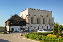 犹太教堂在Szydlow,波兰 库存照片