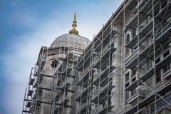 犹太教堂恢复 图库摄影