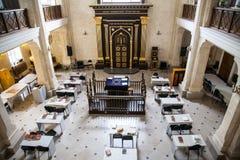 犹太教堂犹太人的主要大厅 免版税库存图片