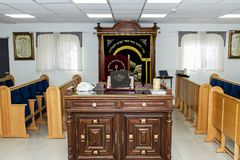 犹太教堂的内部 库存照片
