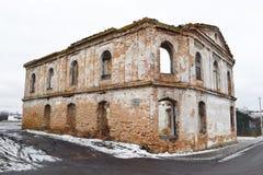 犹太教堂的废墟 免版税库存照片