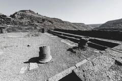 犹太教堂的遗骸在以色列 库存照片