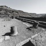 犹太教堂的遗骸在以色列 免版税库存照片