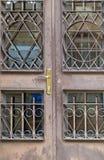 犹太教堂的门 免版税库存图片